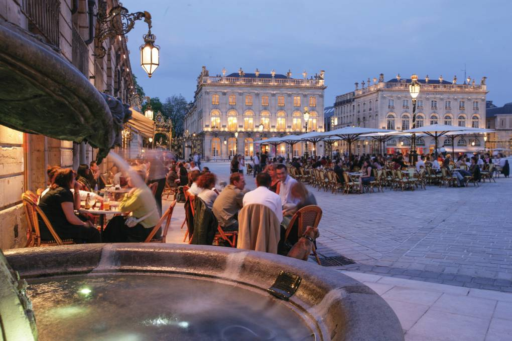 Place Stanislas in Nancy nacht